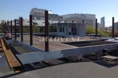 Возведение общей рамы для приточных установок и копрессорно-конденсаторных блоков