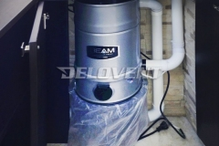 Энергоблок центрального пылесоса BEAM спрятан в шкафу на лоджии